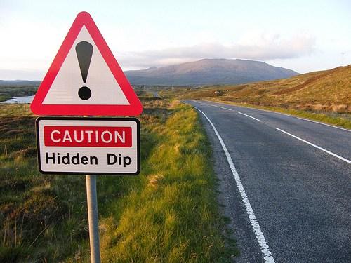 Caution Hidden Dip