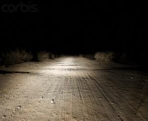 Dirt Road at Night  Image by © Sam Diephuis/Corbis