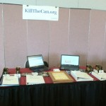 The KillTheCan.org Booth At The 2013 Smokeless Summit