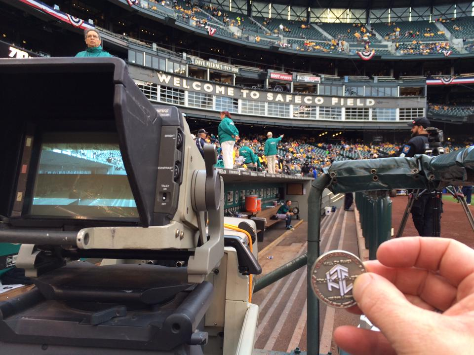 Photo of Luby and His HOF Coin Visit Safeco Field