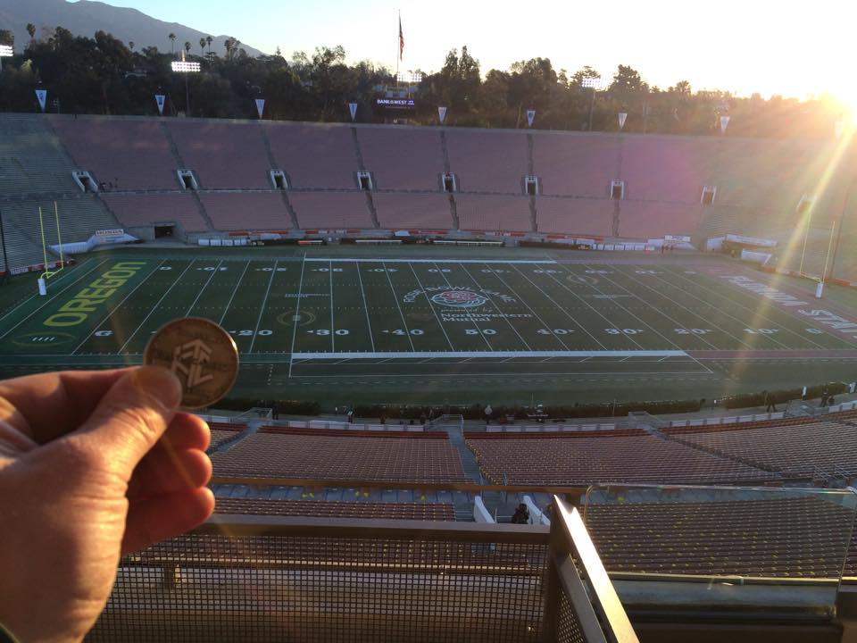 Photo of Luby at His 4th Nicotine Free Rose Bowl