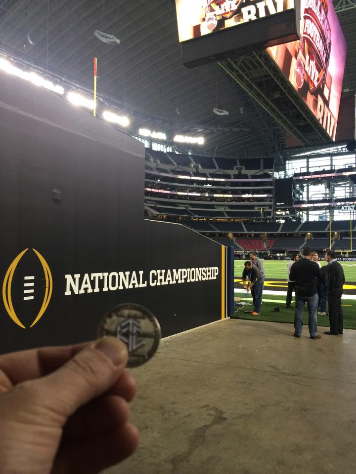 Photo of Luby at the National Championship Game