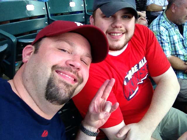 Photo of Chewie and Steve1357 Take In An Indians Game