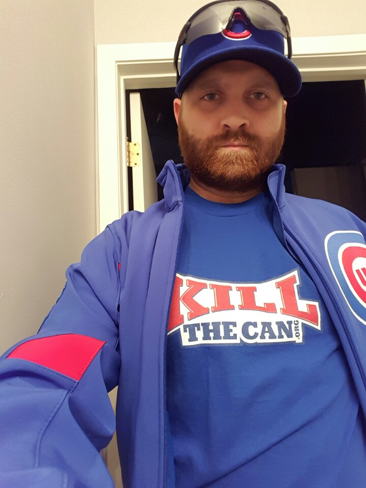 Photo of Basshaug Looking Serious Before a Cubs Game