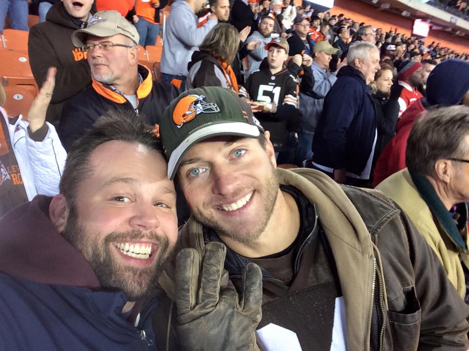 Photo of Chewie and LastChance – Monday Night Football in Cleveland