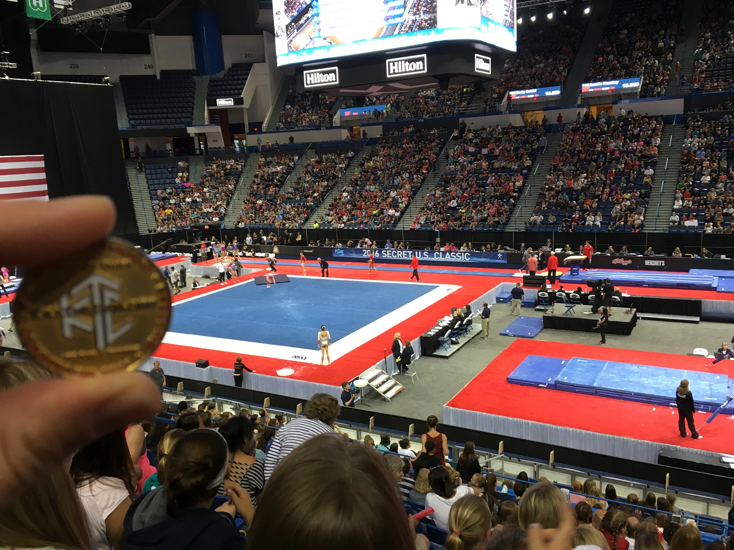 Photo of Nolaq at the US Gymnastics Championships