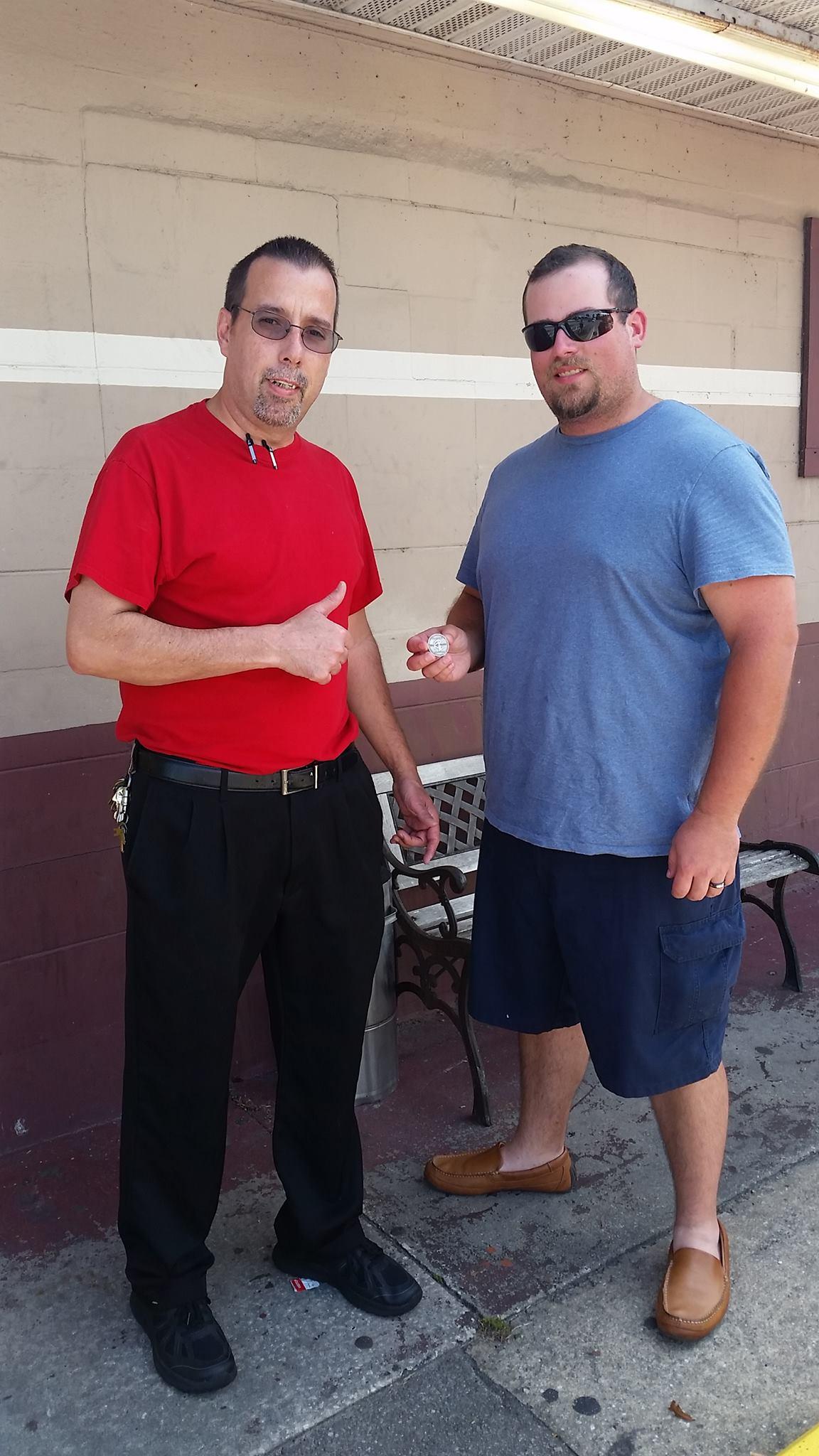 Photo of INKcogKNEEdough and Lumberjack Tim in Florida