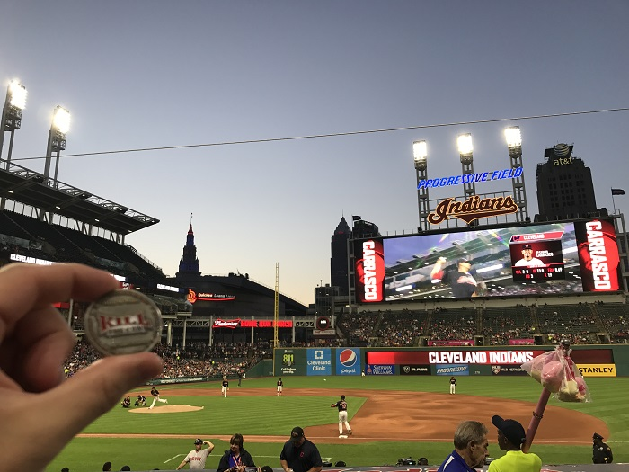 Photo of Chewie at Progressive Field in Cleveland