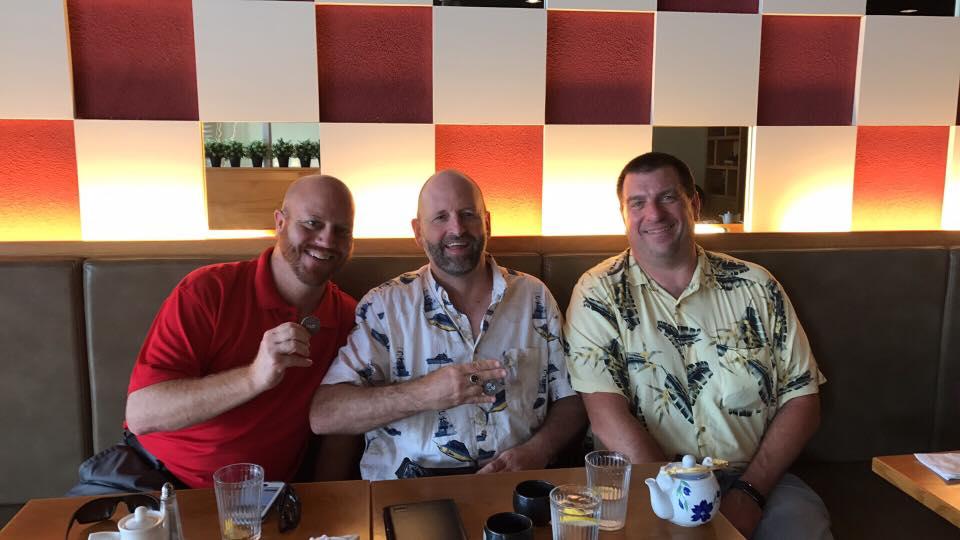 Photo of Jeffro Dolfie, Cmark and SirDerek