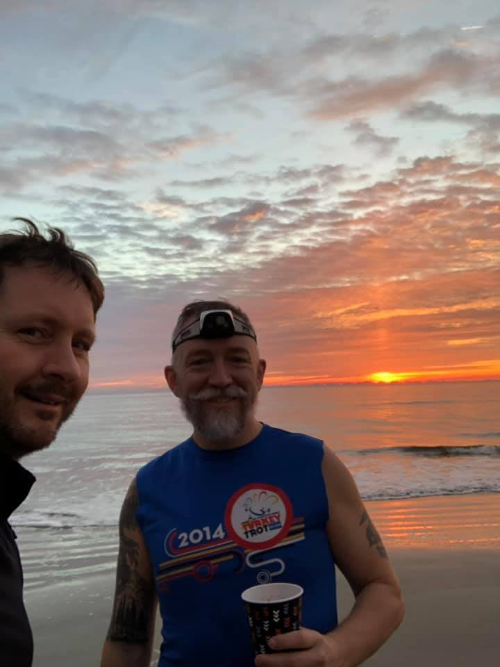Photo of Hydro and Roy – Sunrise Before the Jekyll Island Marathon