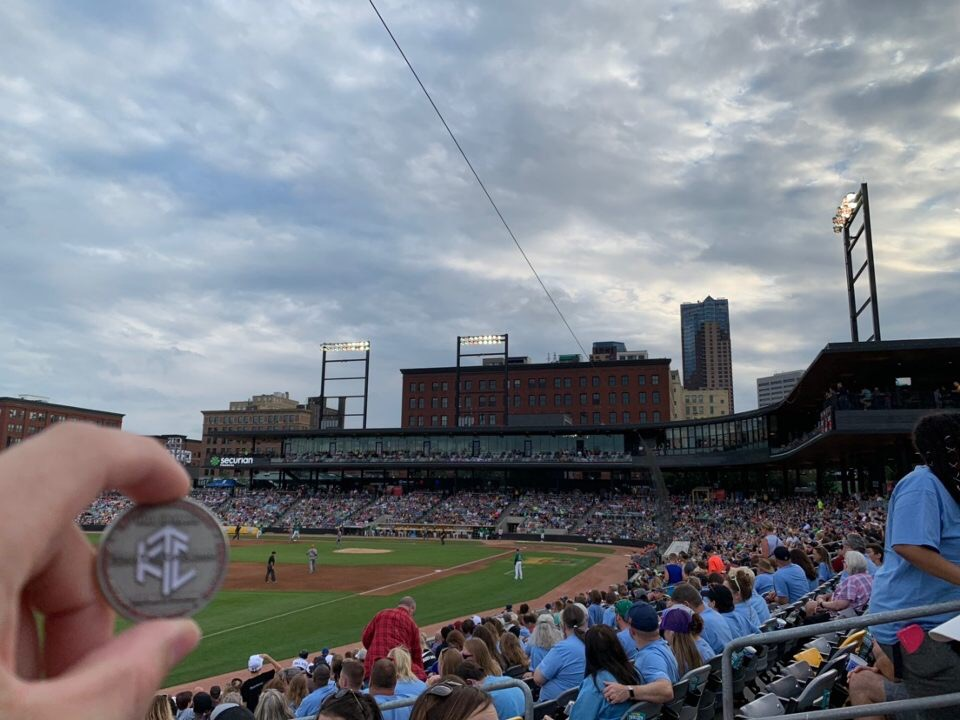 Photo of MNxEngineer314 with the St. Paul Saints