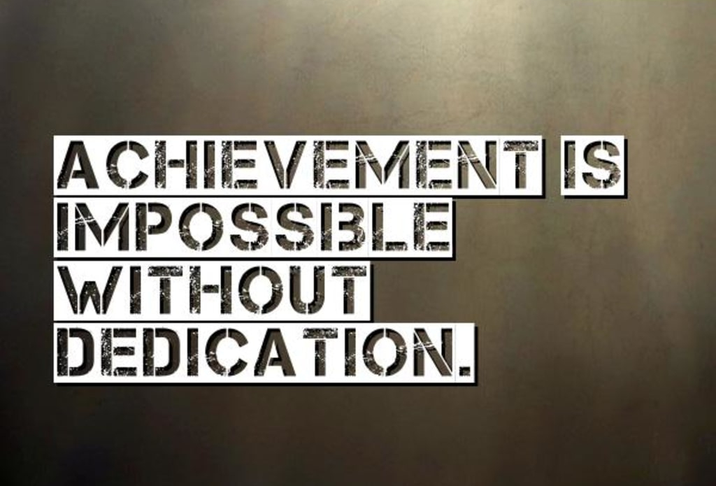 Achievement Dedication